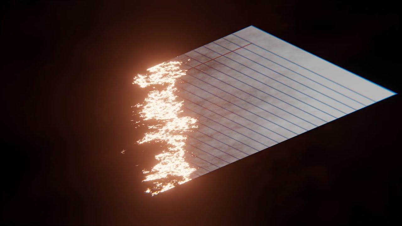 Paper? Let's BURN IT PROCEDURALLY (Blender Tutorial)