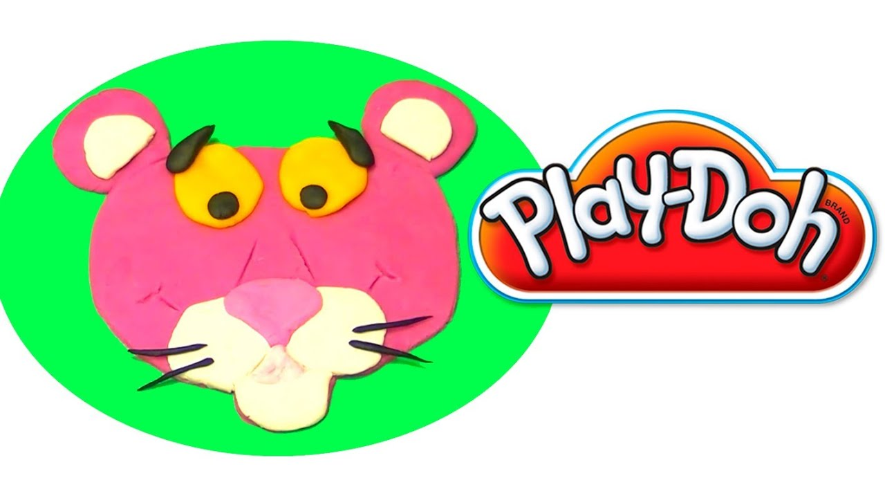 Play Doh How to make Pink Panther with playdough by ...