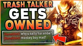 Download #1 WUKONG WORLD DESTROYS TRASH TALKER (ADRIAN AS RENEKTON) - League of Legends Mp3 and Videos