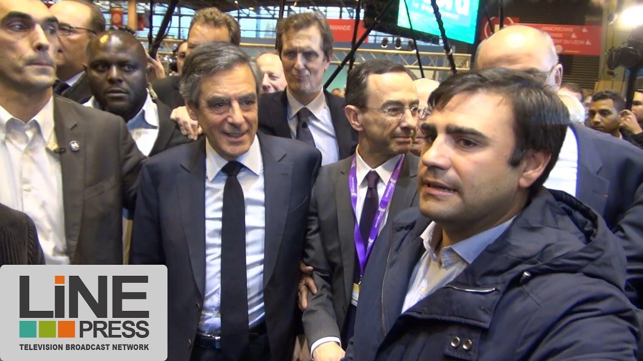 Fran ois fillon au salon de l 39 agriculture paris france for Fillon salon