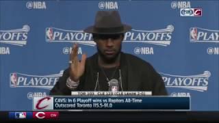 LeBron James postgame press conference | Cavs vs. Raptors, NBA Playoffs