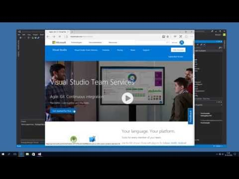 Share your code using Visual Studio Team Services and Git