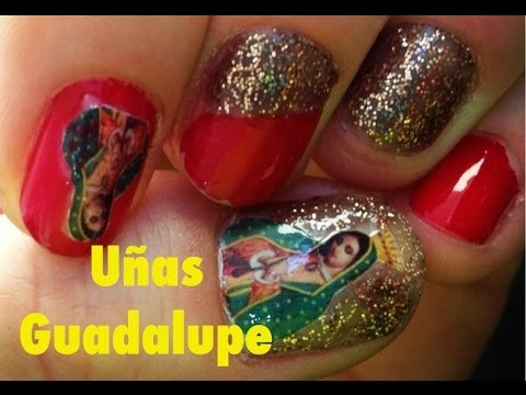 Guadalupe Nail Art - Decoración de Uñas Virgen de Guadalupe - Nailart 12 de diciembre Travel Video