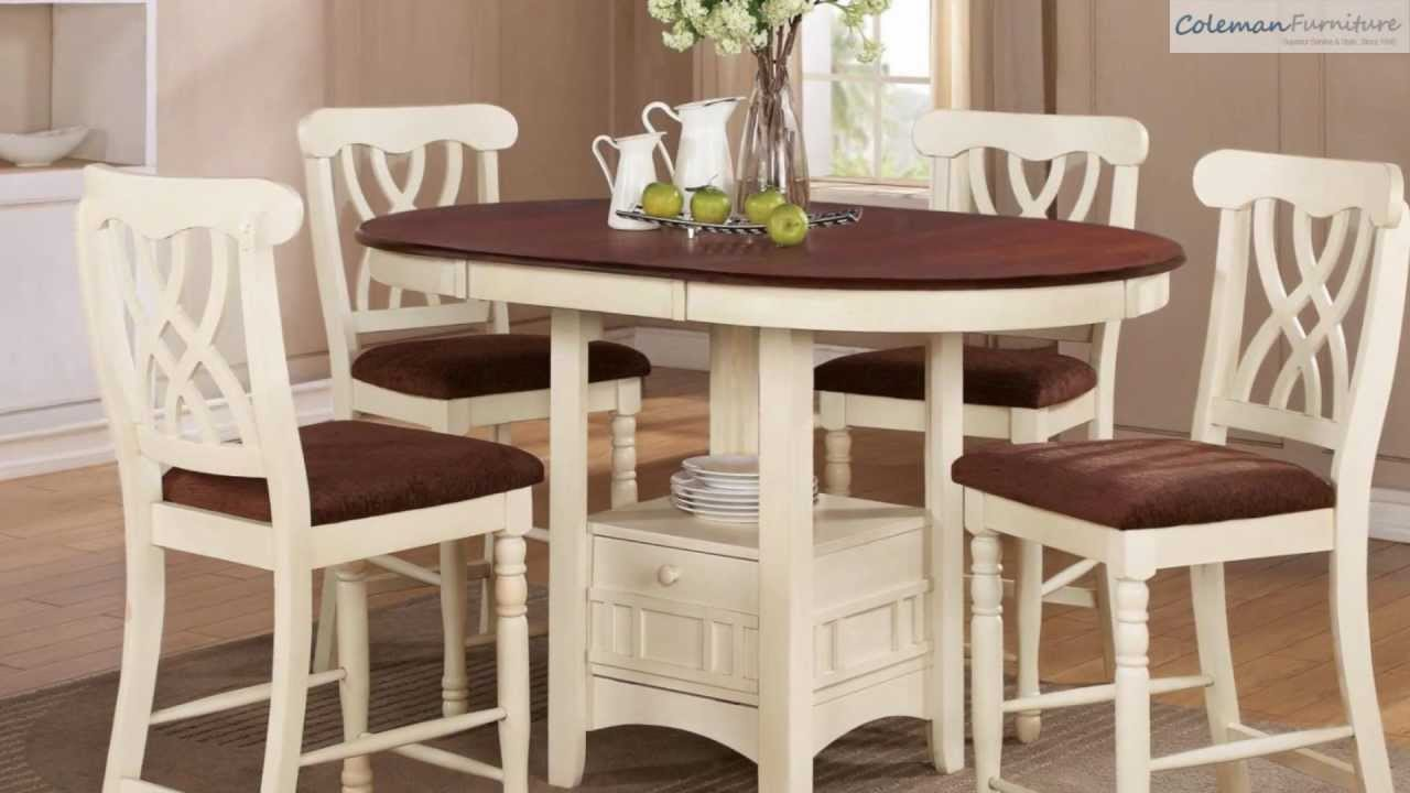 addison white counter height dining room collection from coaster  - addison white counter height dining room collection from coaster furniture youtube