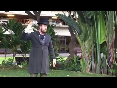 Adam LeFebvre  Portrays Hiram Bingham - Dolphin Incident - Battle of Honolulu 1826