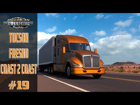 Américan Truck Simulator #19 Tucson   Fresno Map Coast 2 Coast ! Pc !