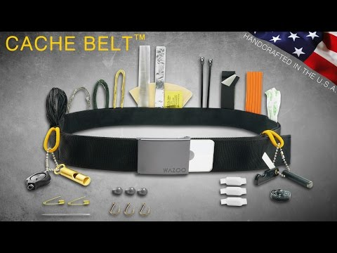 HOLY COW! New - EDC Wazoo Cache Survival Belt - Survival Kit - Money Belt, Travel Tool