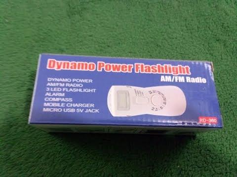 Hand Crank Radio Flashlight, Accevo Self Powered Emergency Radio Smart Phone Charger with Siren USB