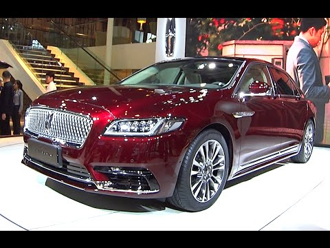 New 2016, 2017 Lincoln Continental On The Beijing Auto