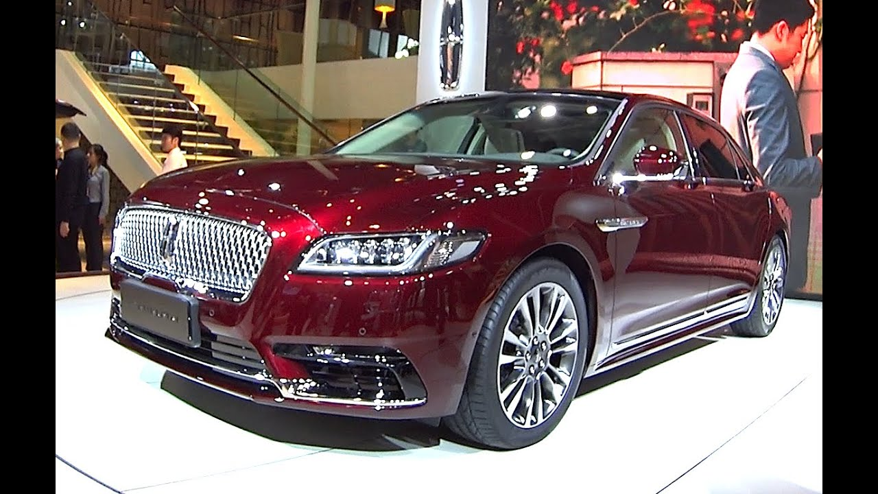 New 2016 2017 Lincoln Continental On The Beijing Auto