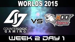 CLG vs KOO - 2015 World Championship Week 2 Day 1- Counter Logic Gaming vs KOO Tigers
