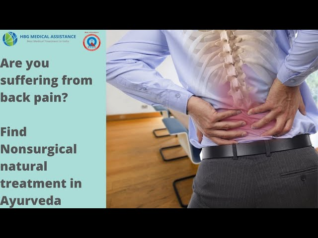 Nonsurgical Back pain Treatment in Ayurveda