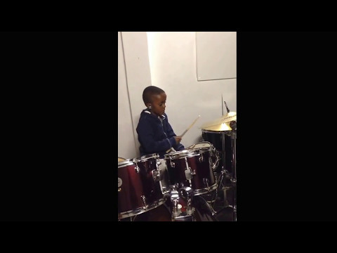 Mpumi Junior @ 8yrs drumming London Town