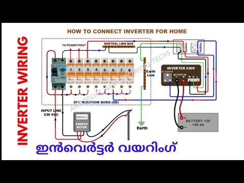 how to connect inverter at home  inverter connection