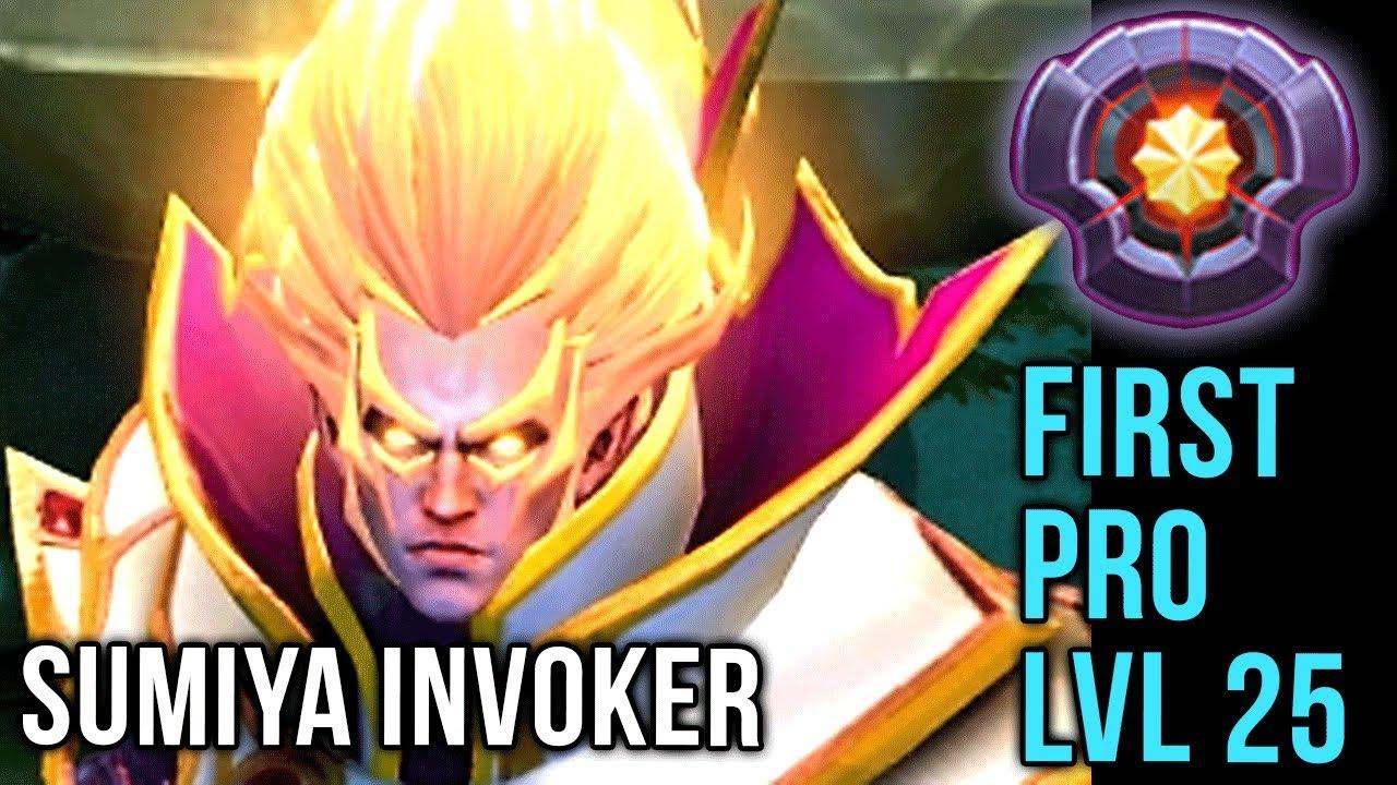Sumiya First Pro Player Lvl  Invoker Dota Plus Epic Gameplay Compilation Dota