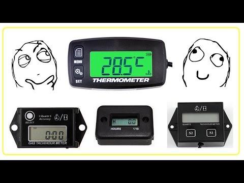 Супер пупер счётчик мото часов с датчиком темп. и другие девайсы, тахометр RL-HM035T