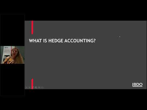 IFRS Webinar Series - The New AASB 9 Financial Instruments – Hedging Requirements