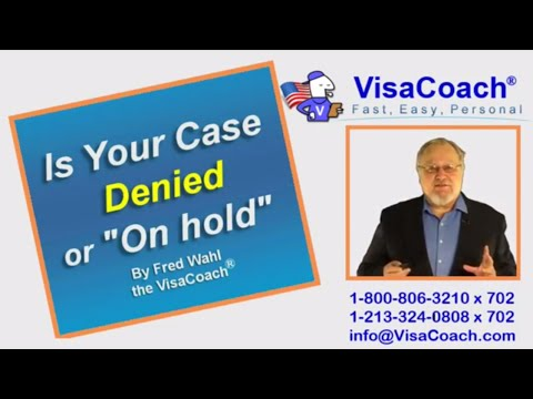 """Visa Application: Denied or """"On hold"""" Administrative Processing or Returned to USCIS Gen 75"""