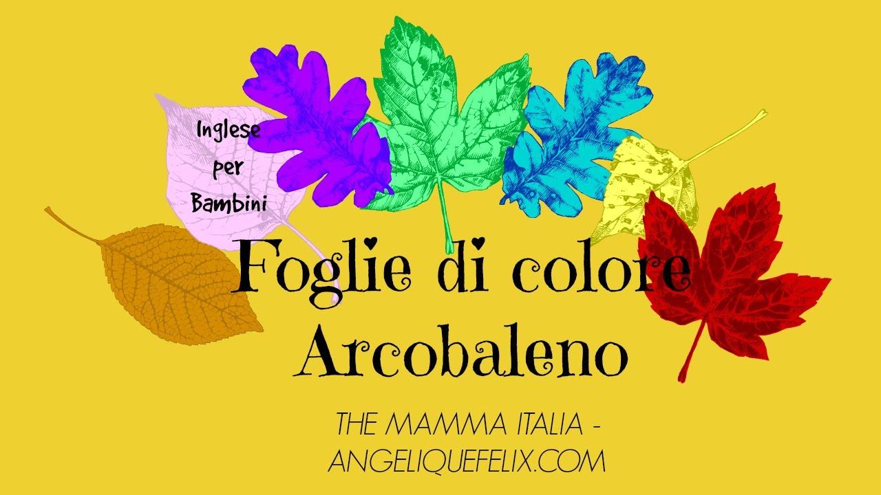 canzoncina storia foglie di colore arcobaleno inglese