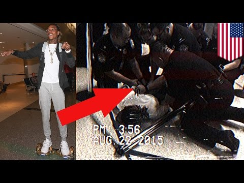 Wiz Khalifa handcuffed at LAX Airport for riding a 'hoverboard' - TomoNews