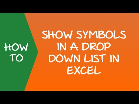 Unit 30 - How to Use Symbols in Drop Down List in Excel