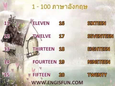 1-100 ตัวเลขภาษาอังกฤษ และการออกเเสียง