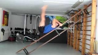 Swedish Bench Hanging Leg Raises