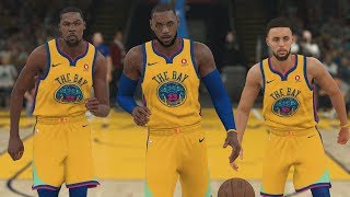Lebron James On The Golden State Warriors! NBA 2K18 Gameplay!