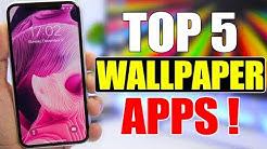 TOP 5 iPhone WALLPAPER Apps !