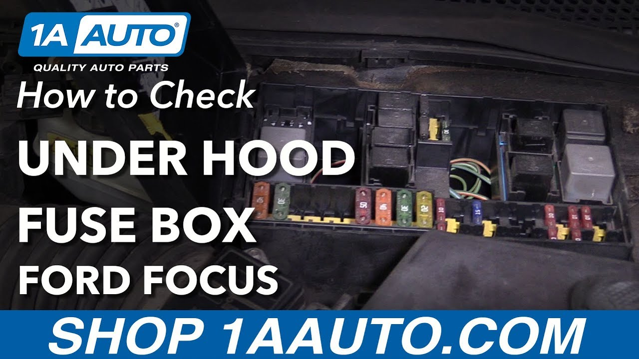 how to check under hood fuses 00 04 ford focus [ 1280 x 720 Pixel ]