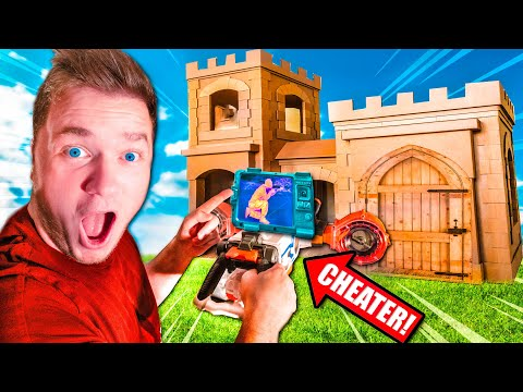 $1 Vs $10,000 NERF HIDE AND SEEK BOX FORT CHALLENGE CHEATER VS NOOB