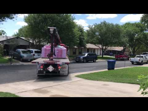 ABC Supply Company delivers our shingles