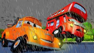 Денвер попал в шторм - Эвакуатор Том в Автомобильный Город  🚗 детский мультфильм