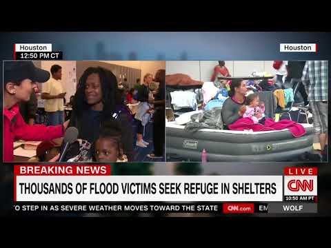 Flood Survivor Goes off on CNN Cameras