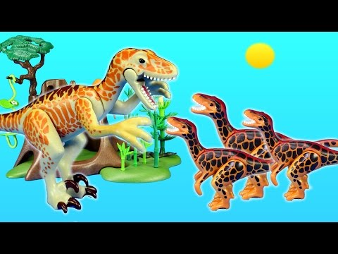 Playmobil Dinosaurs Deinonychus and Velociraptors Toys For Kids Building Set Build Review