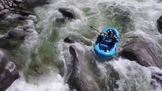 'Cherry Creek' Upper Tuolumne Class 5 Whitewater with Drone's eye view!