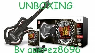 Unboxing Guitar Hero Warriors of Rock Guitar Bundle and Guitar Hero Smash Hits For the Wii