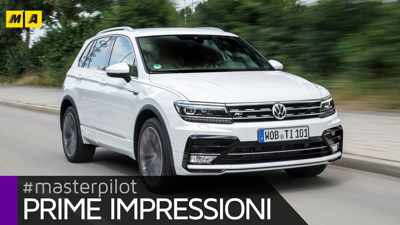 Volkswagen tiguan r line 4motion 2 0 tdi 240 cv primo test english sub youtube