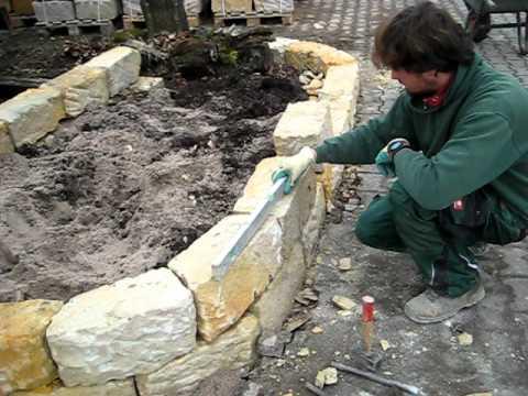 trockenmauern aus sandstein von liehr garten & ambiente - youtube, Garten Ideen
