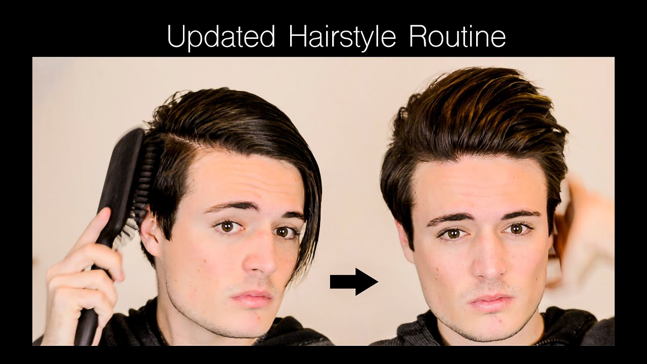 Mens Hair - Updated Hairstyle Routine Mens Long(ish) Hair - YouTube