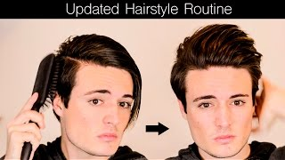 Mens Hair 2016 - Updated Hairstyle Routine | Mens Long(ish) Hair