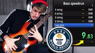 BASS Speedrun WORLD RECORD | 9.84s | 100% Glitchless (4 Strings)
