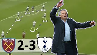 Jose Mourinho FIRST Game for Tottenham - Tactical Analysis - West Ham 2-3 Spurs Highlights Analysis