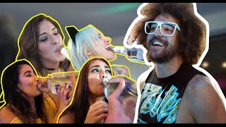 Redfoo's Mannequin Challenge Drinking Game at Party Rock Mansion!
