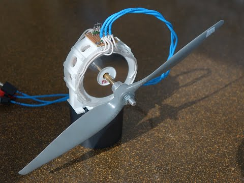 3D printed axial brushless motor for drones : one rotor \u0026 two stators