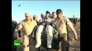 Посадка «Союз МС-08» с тремя членами экипажа МКС — LIVE