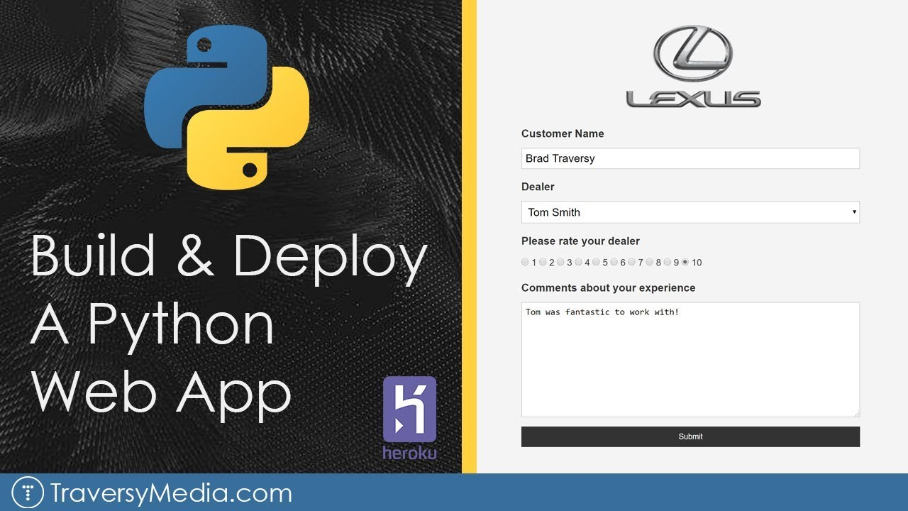 Build & Deploy A Python Web App | Flask, Postgres & Heroku
