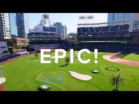PLAYING GOLF IN A BASEBALL STADIUM! - THE LINKS AT PETCO PARK // PART 1 (4K)