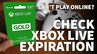 How to Check Xbox Live Gold Expiration Date – Renew Xbox Live Gold Subscription Can't Play Online