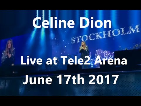 Céline Dion - FAN DVD - Live at Tele2 Arena, Stockholm (June 17th 2017)